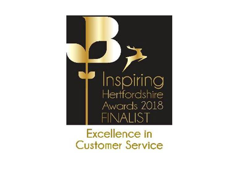 HRJ Foreman Laws Solicitors, Customer Service Excellence, Inspiring Hertfordshire Awards 2018, Finalist