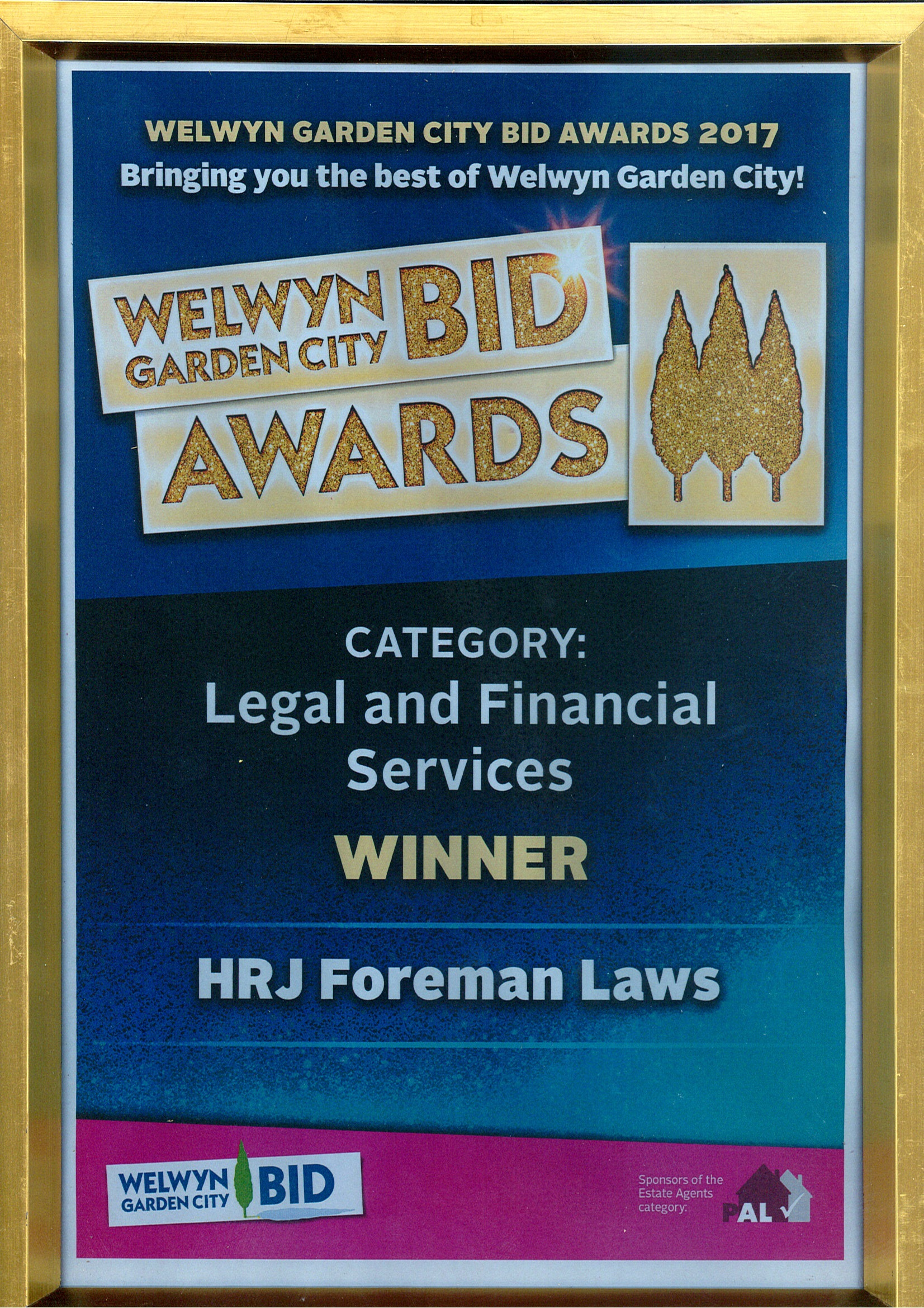 voted the best legal services business in Welwyn Garden City